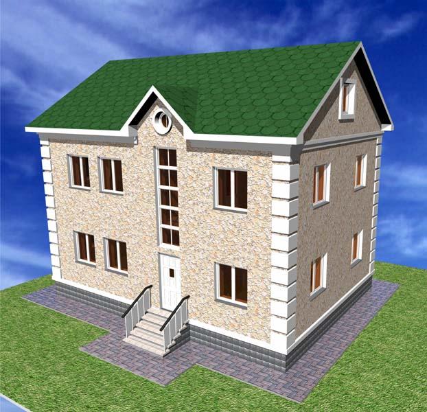 Проект небольшого одноэтажного дома с